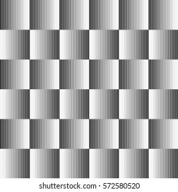 Checkered gradient lines seamless pattren. Illusion texture. Vector illustration EPS10.  Optical illusions.