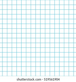 Checkered notebook paper vector seamless pattern. Graph paper background.