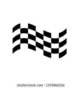Checkered race flag vector design