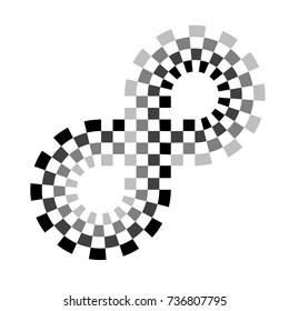 checkered racing circuit symbol vector