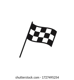 Checkered racing flag icon. Starting flag auto and moto racing. Sport car competition victory sign