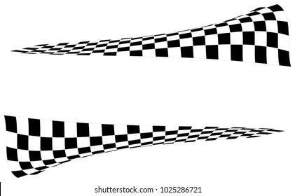 Checkered Racing flag isolated on white.