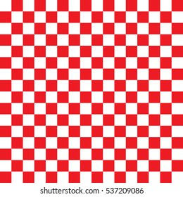 Checkered seamless red pattern background