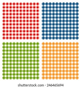 Checkered tablecloth seamless pattern