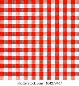 Checkered tablecloth. Seamless vector.