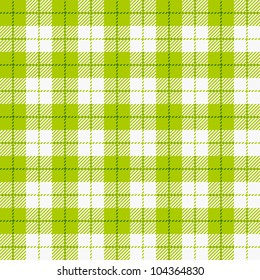 Checkered tablecloth. Seamless vector.