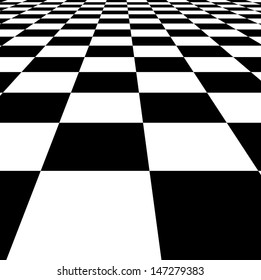 Checkered texture 3d background.