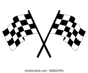 Checkered vector flag.