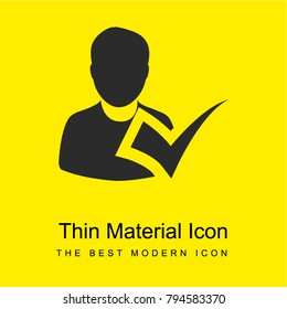 Checking attendance bright yellow material minimal icon or logo design