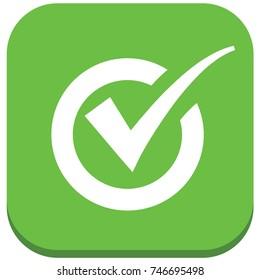 Checking mark icon design,vector