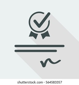 Checking official document - Vector web icon