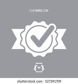 Checking quality symbol icon