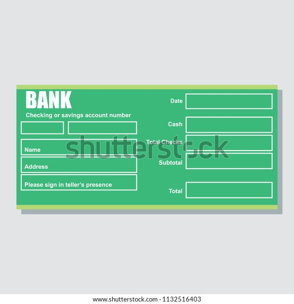 Checking Saving Account Number Bank Payment Stock Vector (Royalty