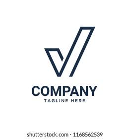 checklist, check mark, check logo design template