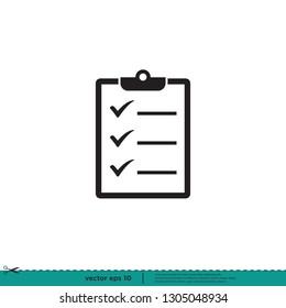 Checklist checkmark Icon Vector