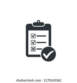 checklist clipboard icon checkmark icon