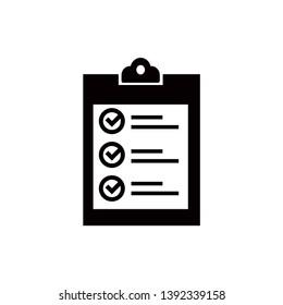 checklist clipboard icon vector flat design