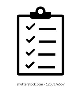 Checklist icon. Check the clipboard list with checkboxes. The concept of modern linear design.