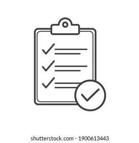 Checklist icon. Clipboard icon. Flat design. Vector illustration.