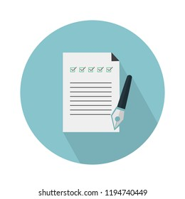 checklist icon. Flat illustration of checklist vector icon for web design