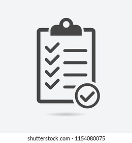 Checklist icon flat style isolated on background. Checklist sign symbol for web site and app design.