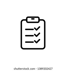 checklist icon, illustration vector template