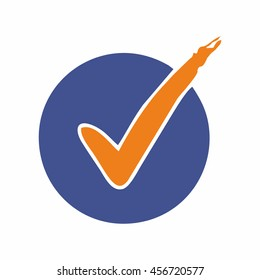 Checklist icon ready to use. Abstract symbol of check or checklist