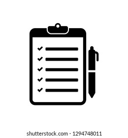 checklist icon symbol vector