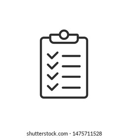Checklist icon template color editable. Checklist symbol vector sign isolated on white background.