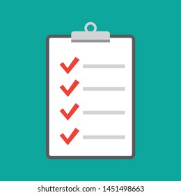 checklist icon vector. Clipboard and check marks vector.
