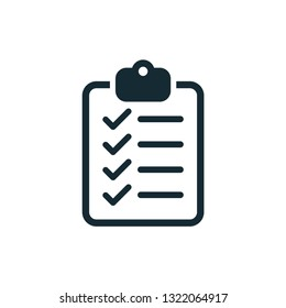 checklist icon vector design