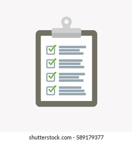 Checklist icon vector illustration.