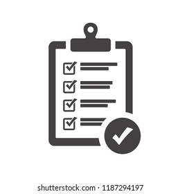 Checklist icon vector illustration. Document design concept.