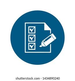 Checklist Icon Vector Logo Template