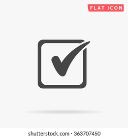 Checklist Icon Vector. Simple flat symbol. Perfect Black pictogram illustration on white background.
