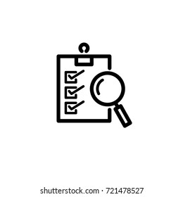 checklist inspection icon vector