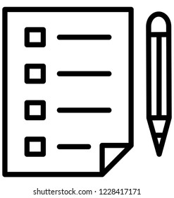 Checklist Isolated Vector Icon That can be easily Modified or Edited.