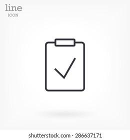 checklist line vector icon