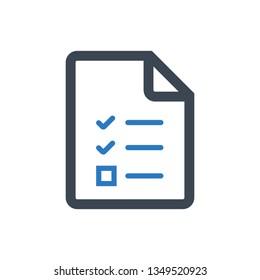 Checklist, list icon