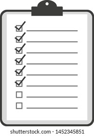checklist on clipboard icon or symbol vector illustration
