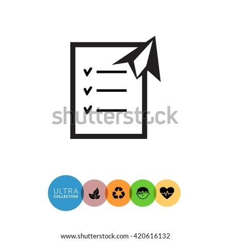 Checklist Paper Plane Stock Vector Royalty Free 420616132