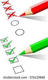 Checklist and pencil isolated
