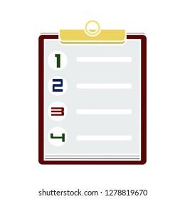 checklist questionnaire Icon-report icon-clipboard icon-checkbox illustration- checklist symbol-survey vector
