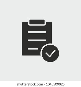 Checklist vector icon. Black illustration isolated for graphic and web design.