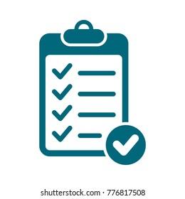 checklist vector icon, check mark icon, flat design best vector checklist illustration
