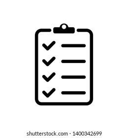 Checklist Vector Icon Design Template