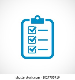 Checklist vector icon isolated on white background