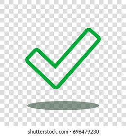 checkmark check select icon vector isolated