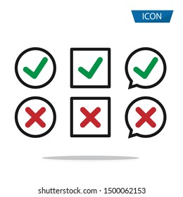 Checkmark icon isolated on white background.