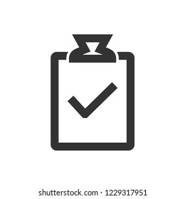 Checkmark icon in thick outline style. Black and white monochrome vector illustration.